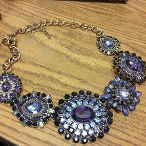 Chicos Liv Bib Necklace Large Crystals I025